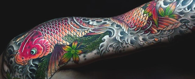 Koi Fish Tattoo Designs For Men