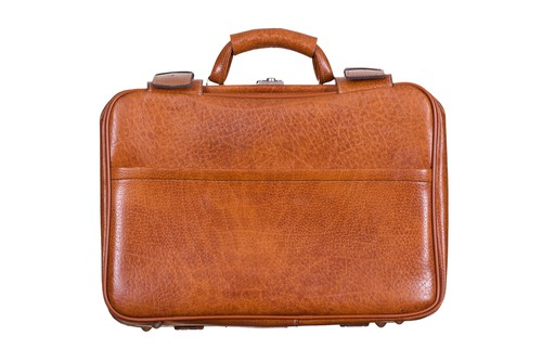 Korchmar Monroe 5 Inch Brown Leather Briefcase For Men