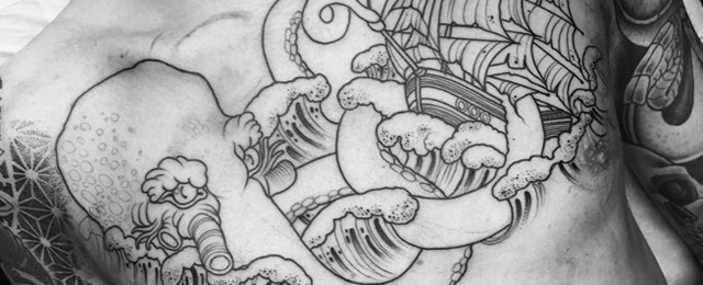 Kraken Tattoo Designs For Men