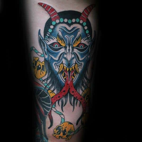 Krampus Mens Tattoo Designs