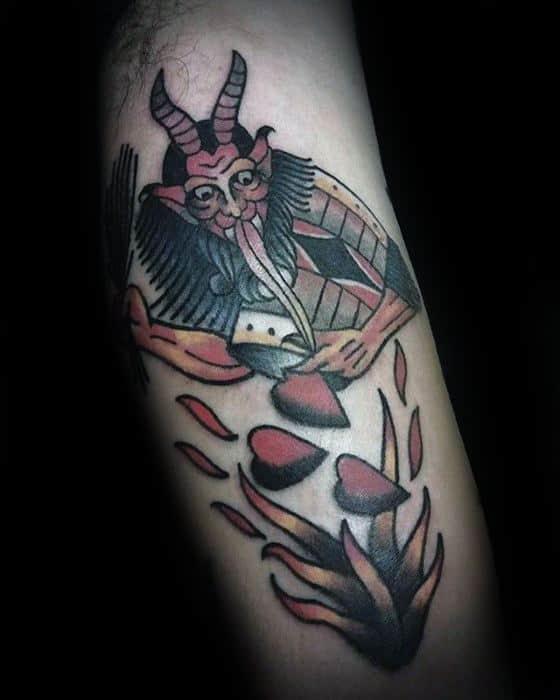 Krampus Mens Tattoo Ideas