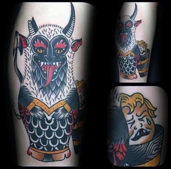 Krampus Tattoo Design Ideas For Males