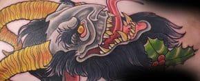 60 Krampus Tattoos For Men – Dark Companion Of Saint Nicholas Design Ideas