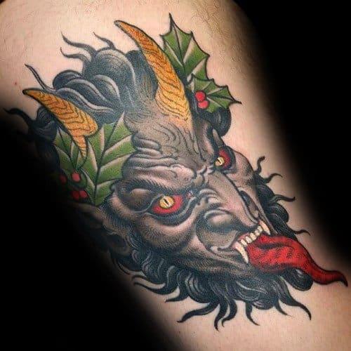 Krampus Tattoos Male Arm