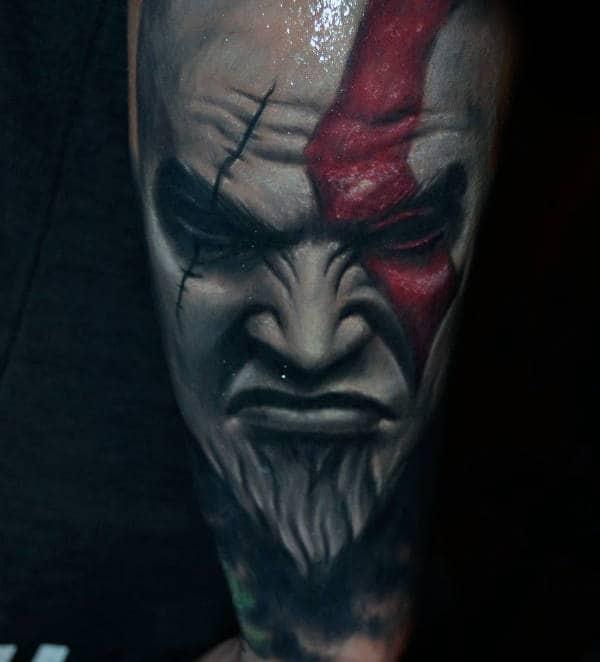 Kratos Forearm Sleeve Mens 3d Tattoo