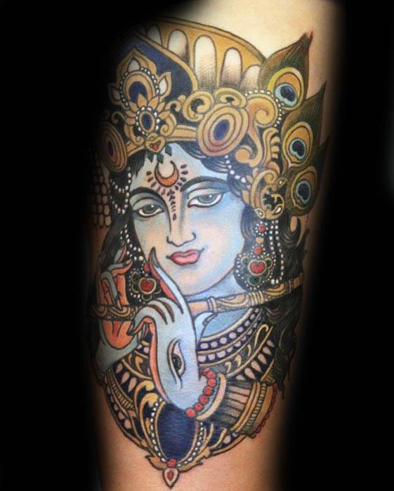 40 Krishna Tattoo Designs For Men