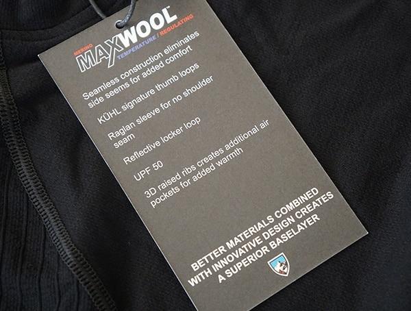Kuhl Kondor Krew Max Wool Temperature Regulating Base Layer For Men