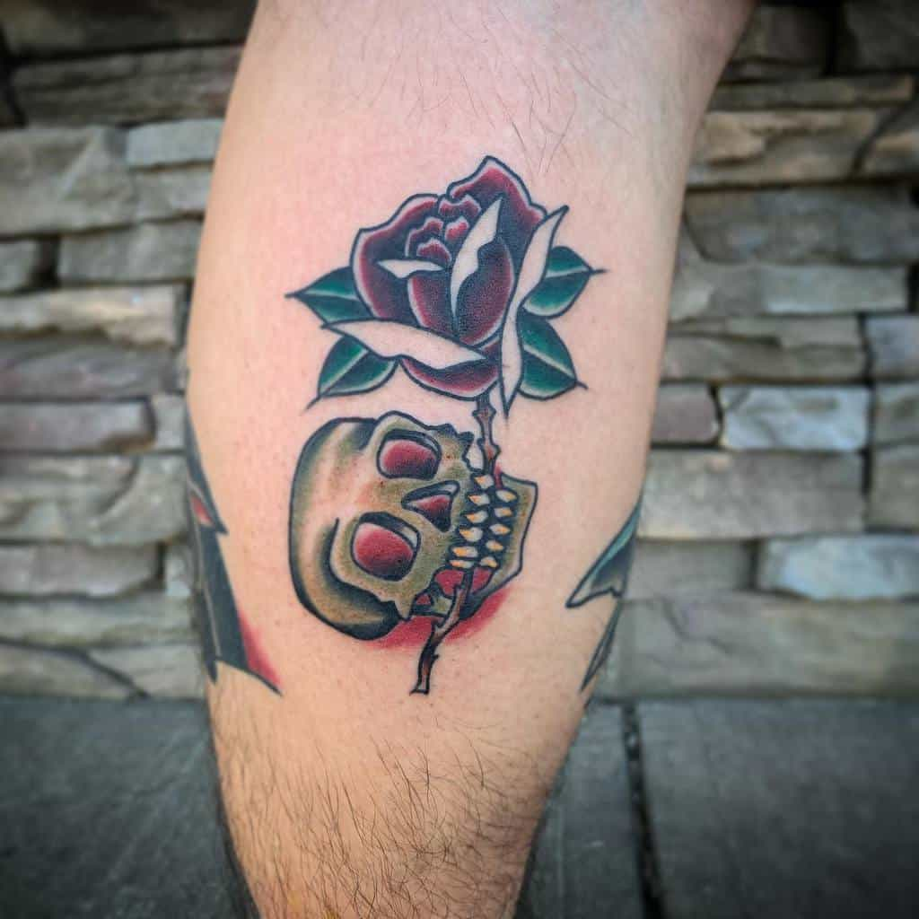 kupton-traditional-skull-and-rose-tattoo-k.uptontattoos