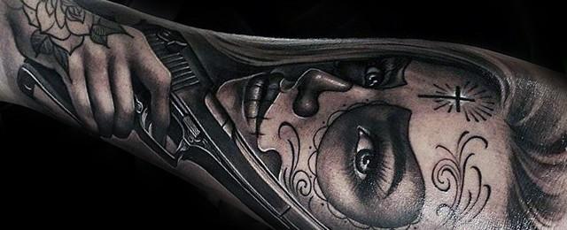 La Catrina Tattoo Designs For Men