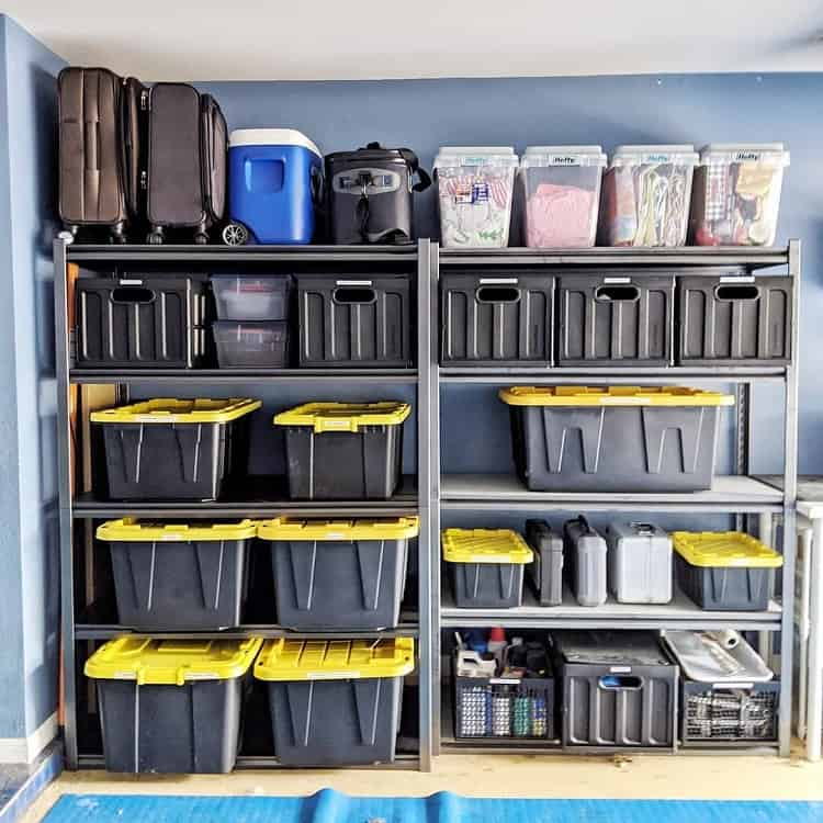 Labeled Shelving Garage Organization Sortedspaces Design