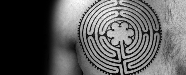 60 Labyrinth Tattoo Designs For Men – Maze Ink Ideas