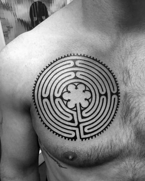 Labyrinth Tattoos For Men
