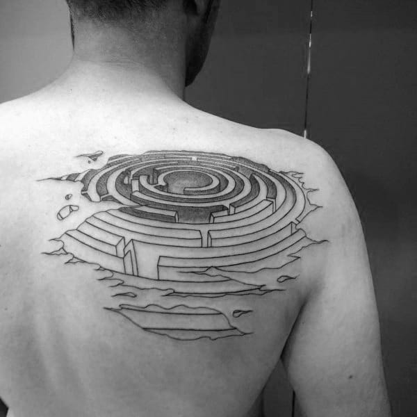 Labyrinth Themed Tattoo Ideas For Men