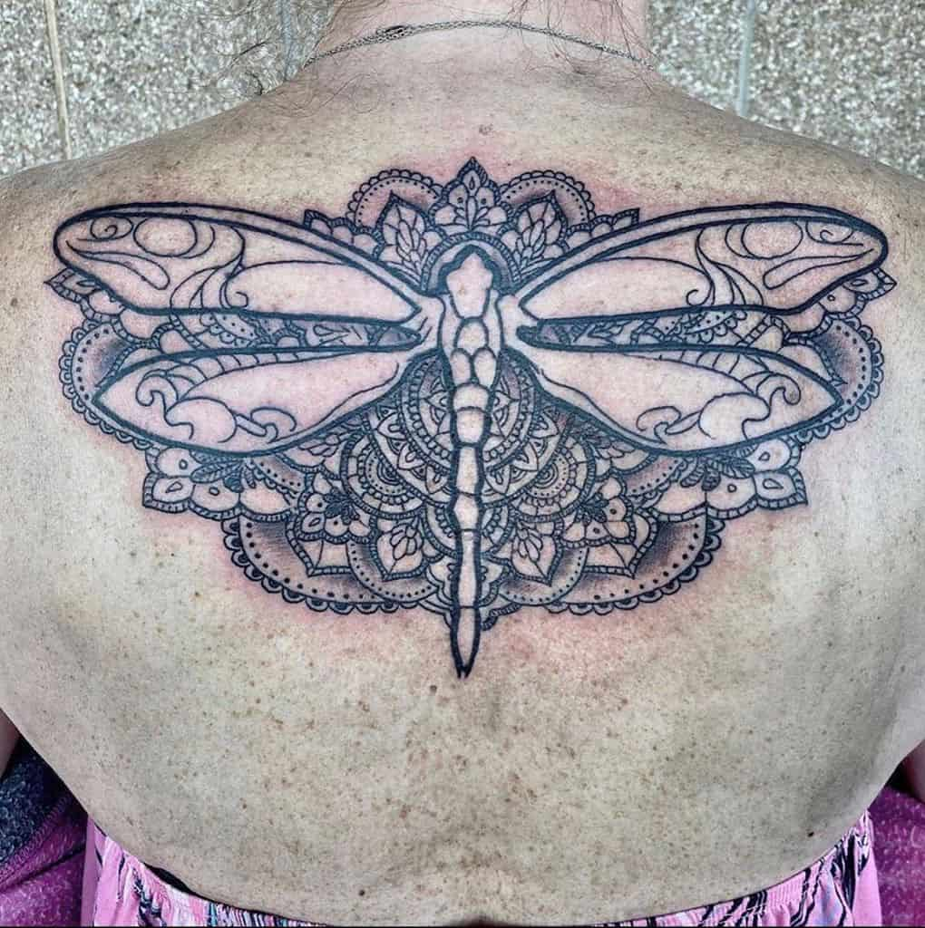 Lace Butterfly Back Tattoo