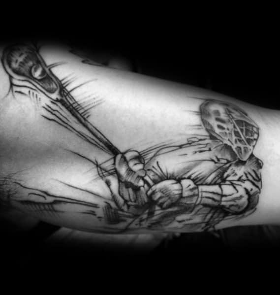 20 Lacrosse Tattoo Ideas For Men Lax Designs