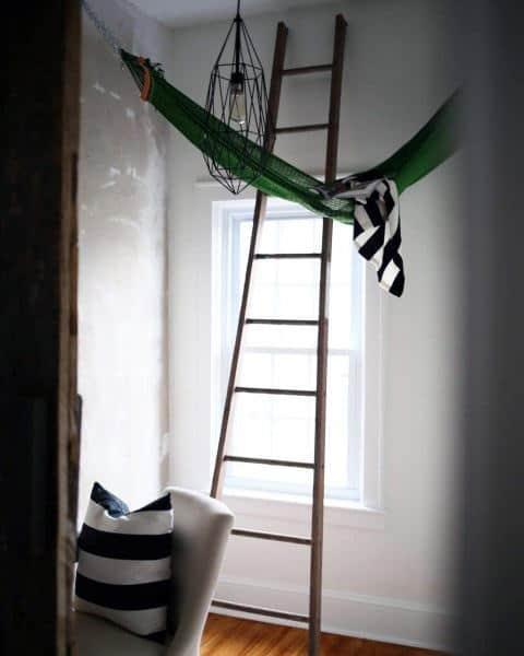 Ladder With Indoor Hammock Ideas