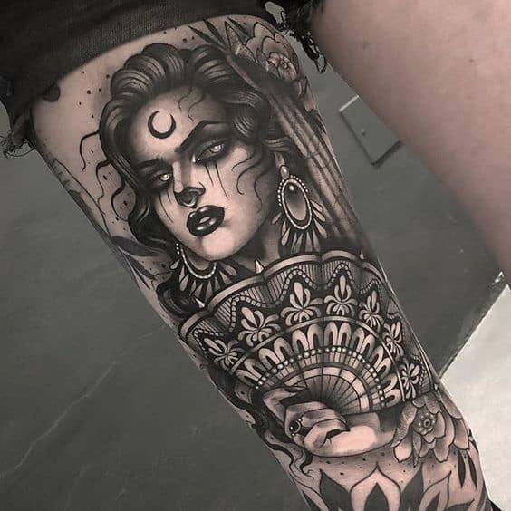 Lady Bone Gypsy Tattoo