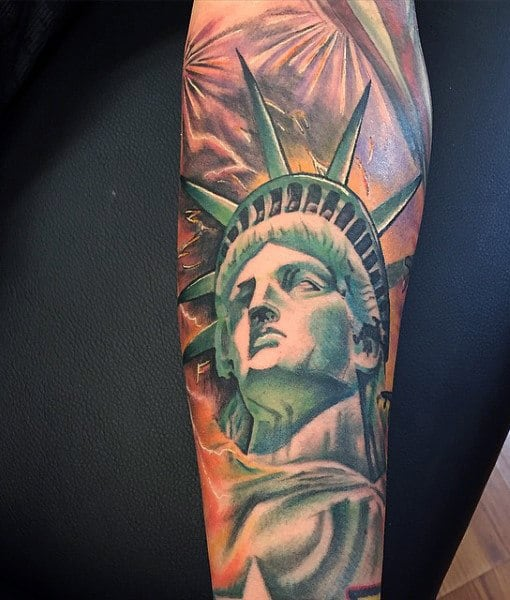 Lady Liberty Tattoos For Men