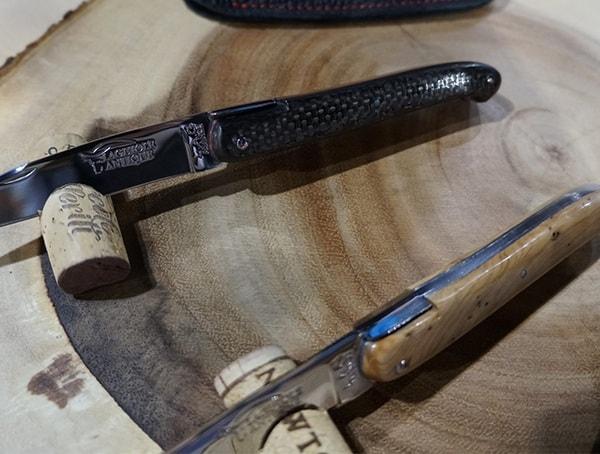 Laguiole Pocket Knife With Carbon Fiber Handle