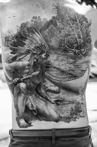 Lake Tattoo Designs For Guys Full Back