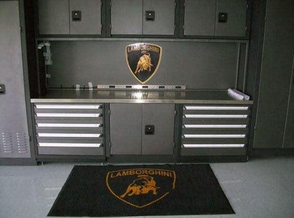 Lamborgini Themed Well Organized Garage Ideas