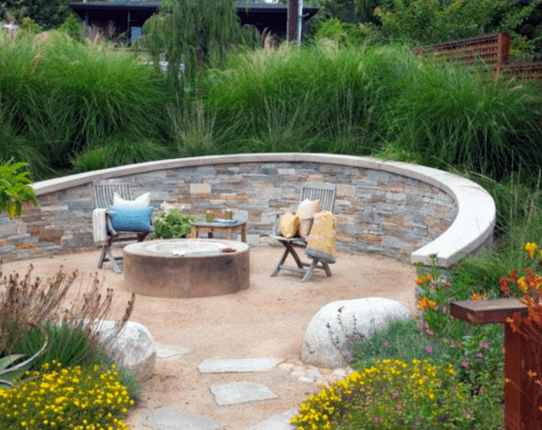 Landscape Gravel Patio Design Idea Inspiration