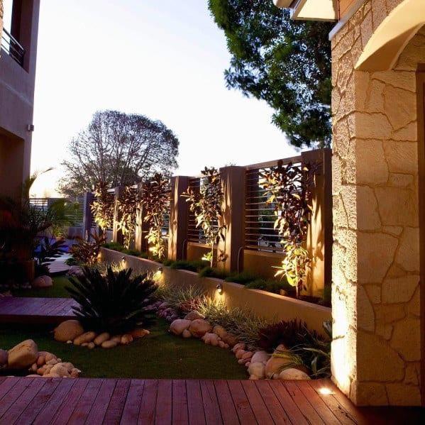 Landscape Lighting Spectacular Ideas Fence