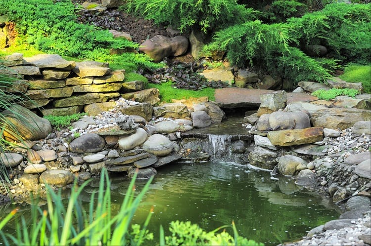 Landscape Small Backyard Waterfall