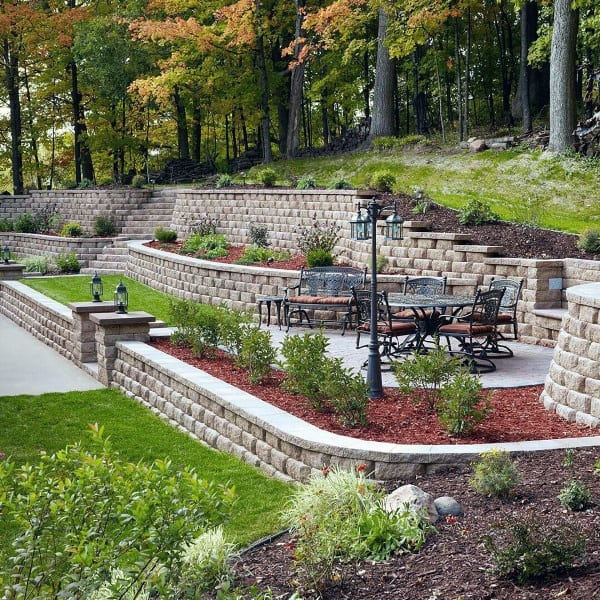 Commercial Walls Landscape Design: Top 60 Best Retaining Wall Ideas