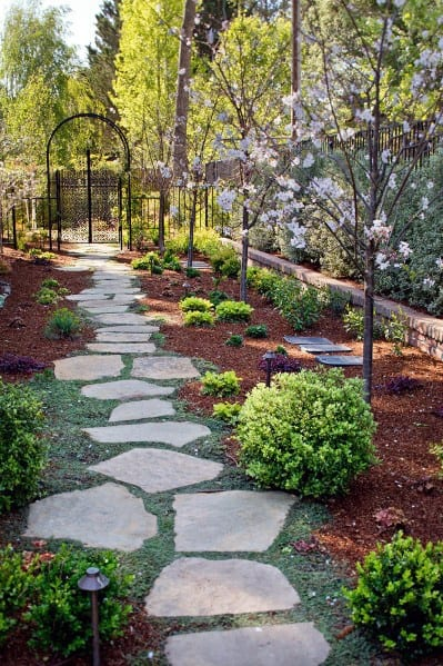 Landscaping Natural Rock Stepping Stone Ideas