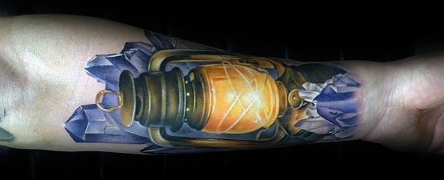 60 Lantern Tattoo Designs For Men – Flaming Ink Ideas