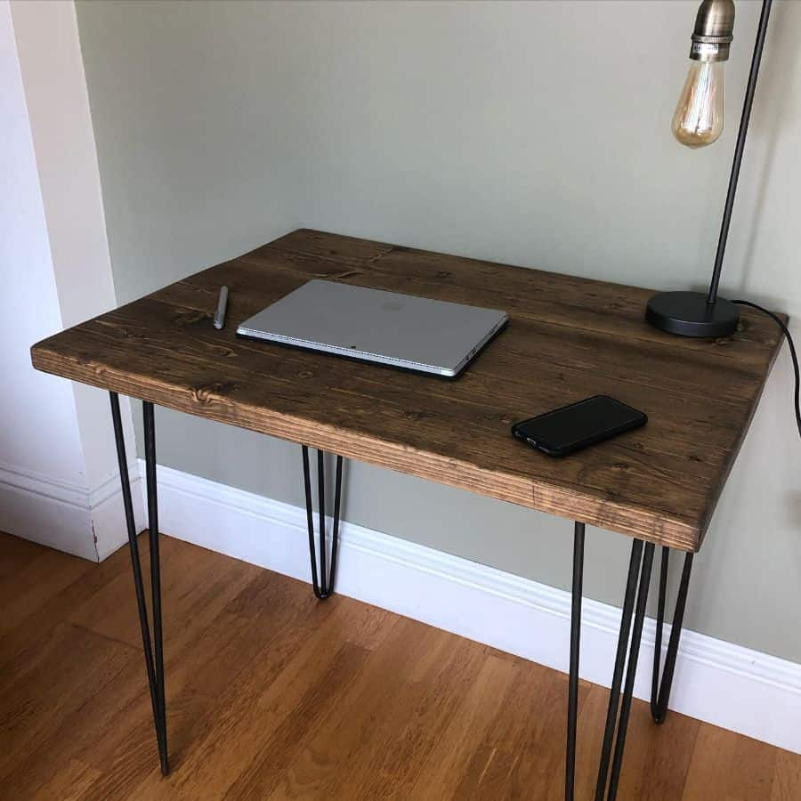 laptop desk setup ideas rusticworkspace