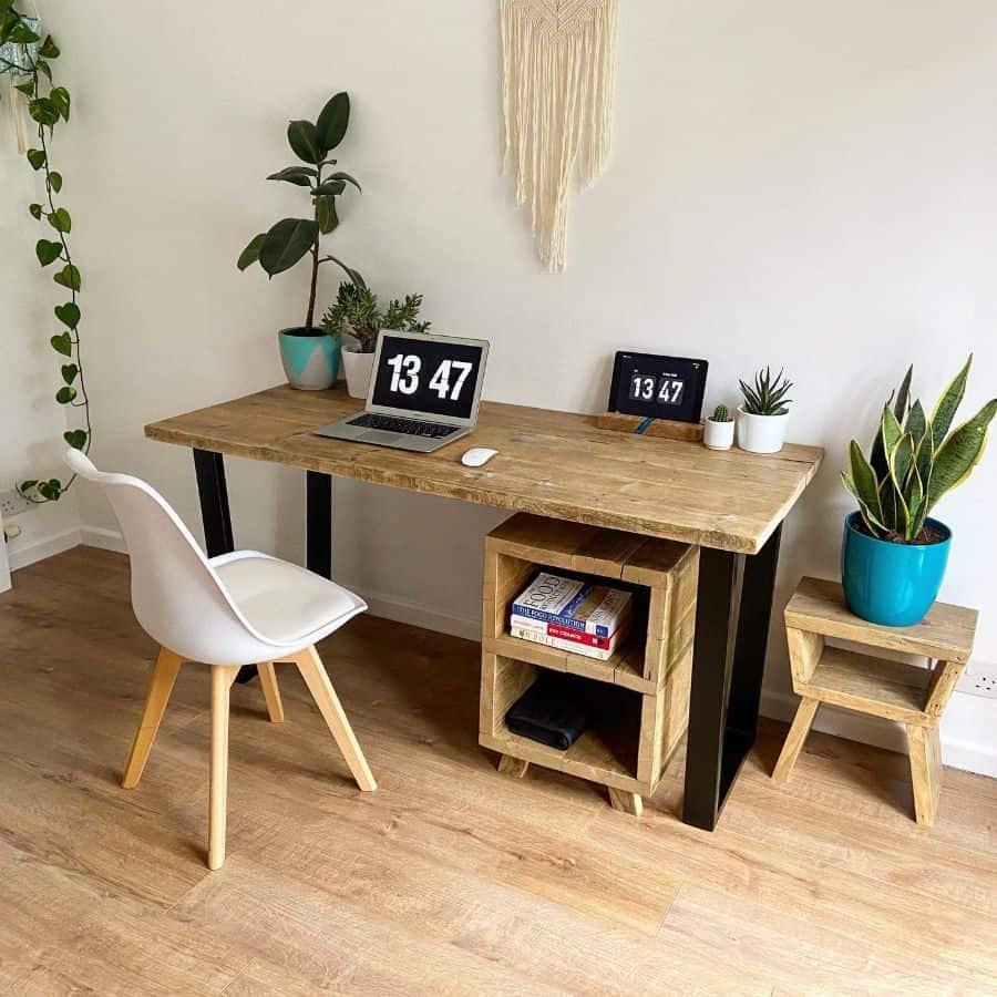 laptop desk setup ideas wood_create