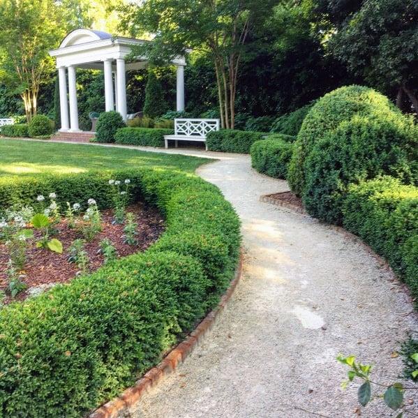 Large Backyard Designs Gravel Walkway