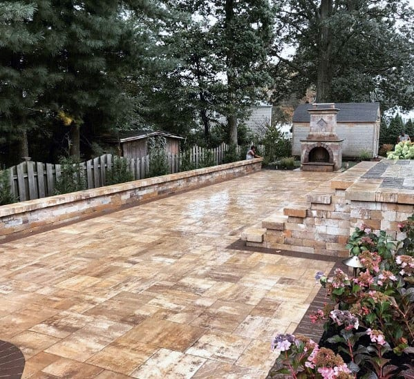 Large Backyard Ideas For Paver Patio