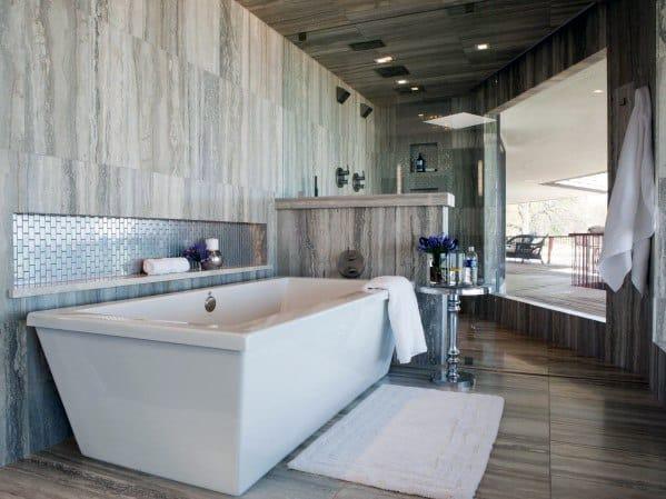 Large Bathroom Bathtub Tile Ideas