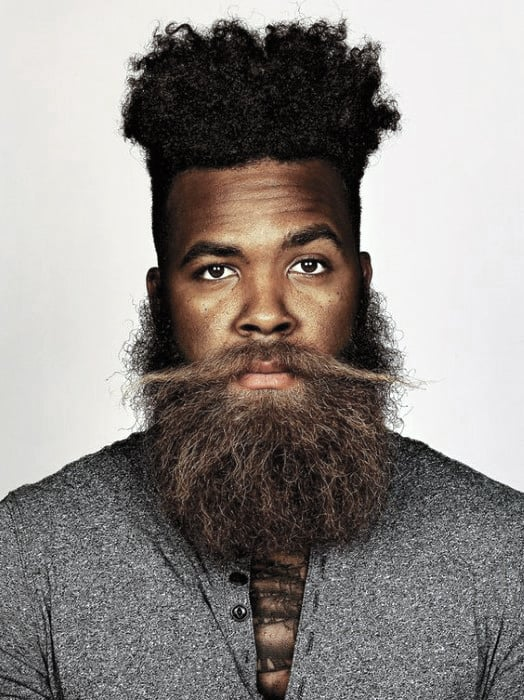 Large Beard Style Designs For Black Men