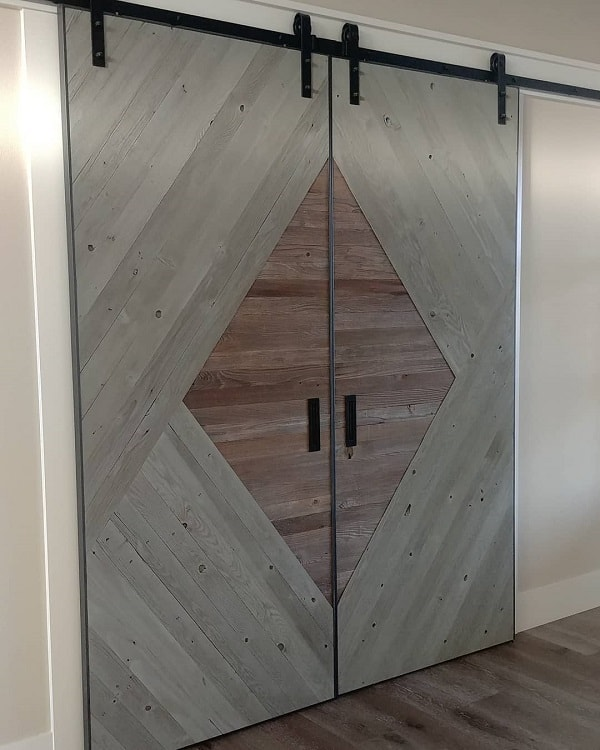 Large Double Modern Barn Door