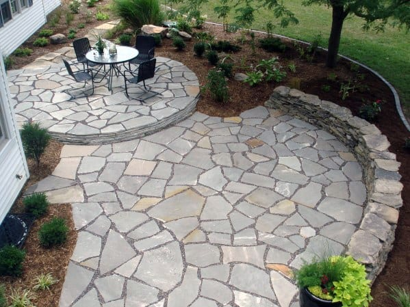 Large Flagstone Patio Design Idea Inspiration