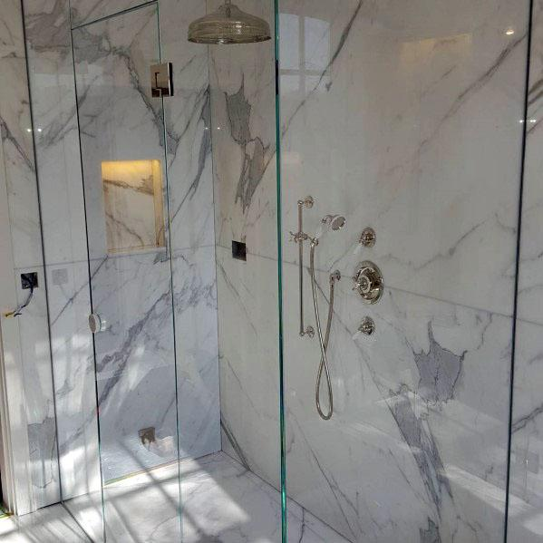 Large Format Tile Shower Ideas Marble Bathroom