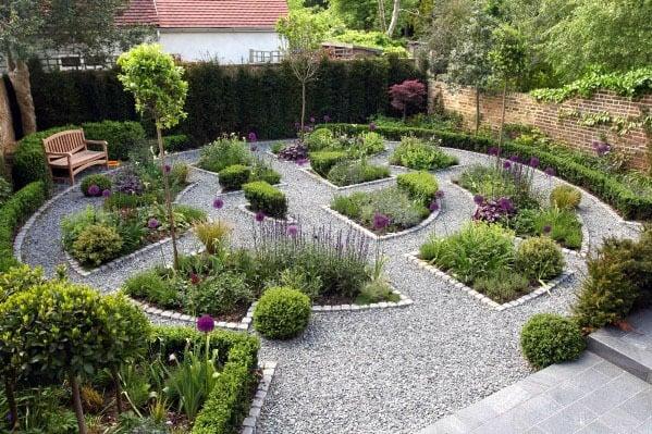 Large Garden Home Backyard Gravel Walkway