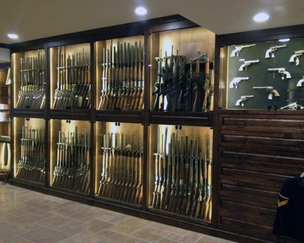 Large Gun Room With Arms Cache Of Firearms