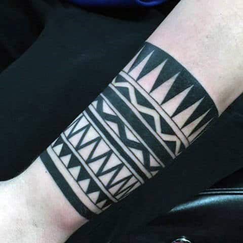 Large Guys Armband Tribal Tattoos