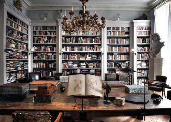 Large Home Library Bookcases Elegant Decor