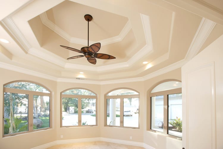 Large Home Office Vaulted Ceiling