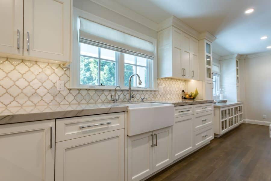 Large Kitchen Window Modern Farmhouse Kitchen 1