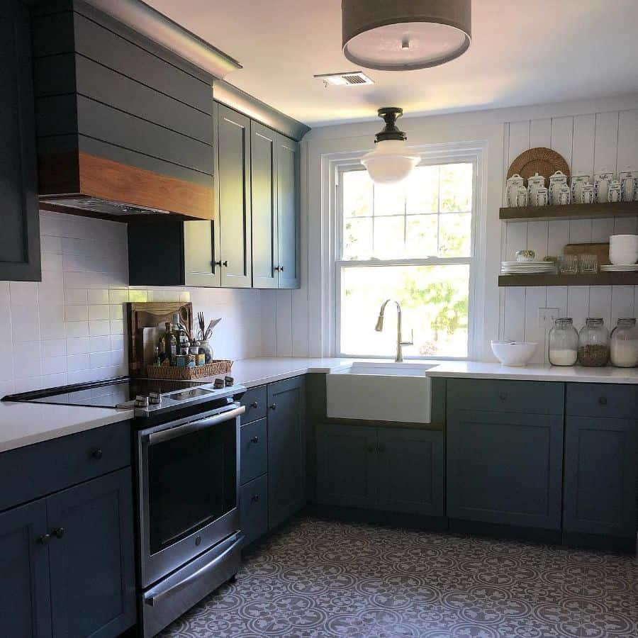 Large Kitchen Window Modern Farmhouse Kitchen Lisafureyinteriors 20200612