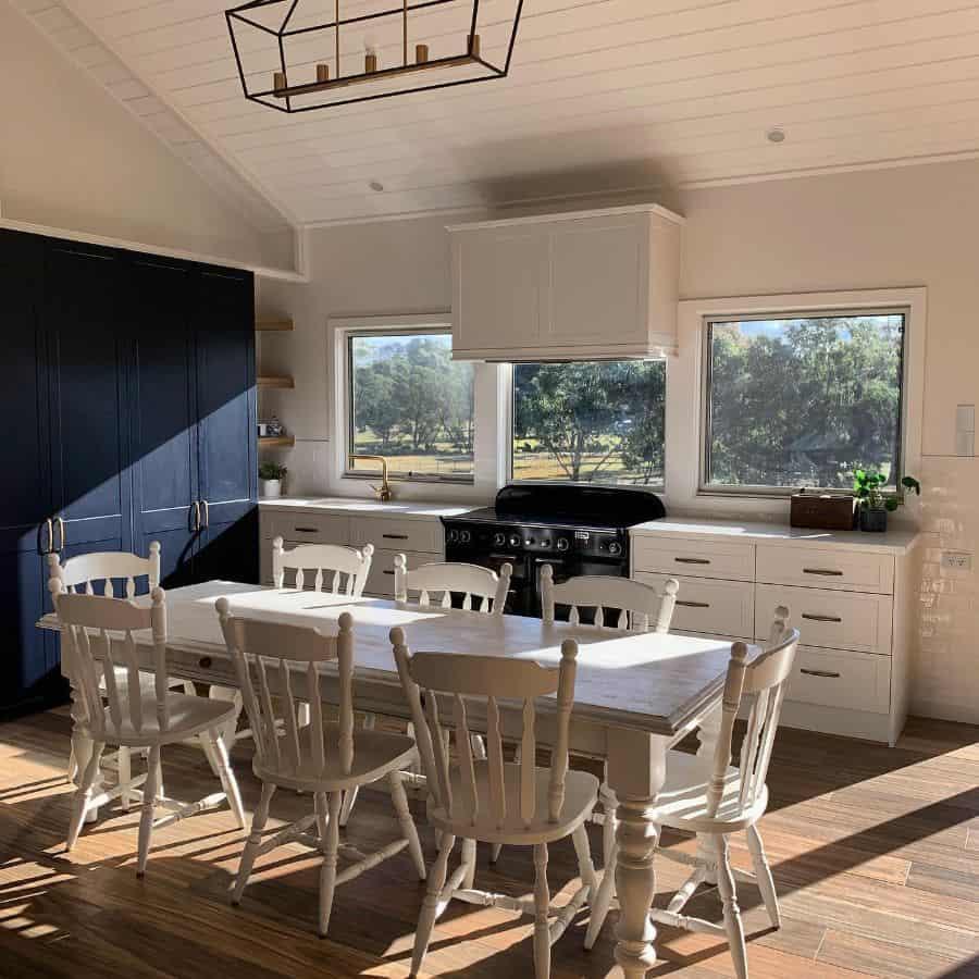 Large Kitchen Window Modern Farmhouse Kitchen Ourmodernfarmhousebuild