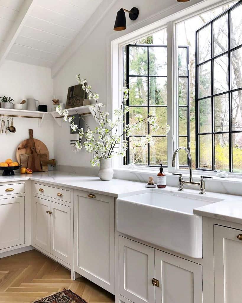 Large Kitchen Window Modern Farmhouse Kitchen Simpleofferings