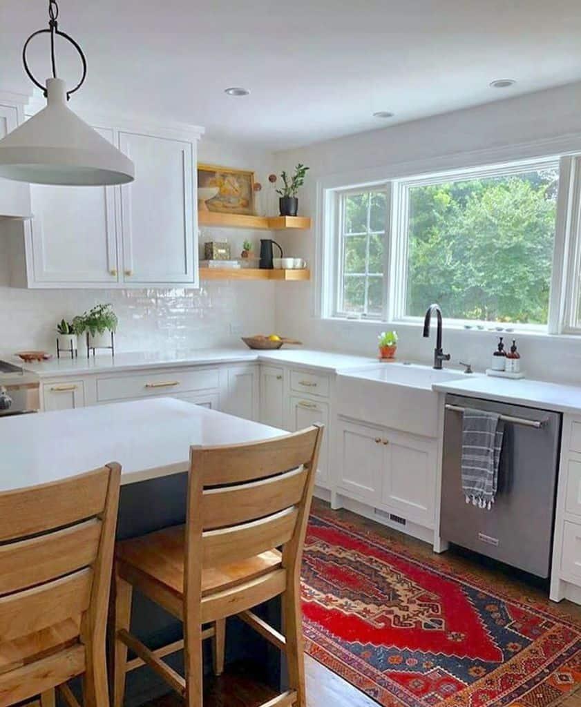 Large Kitchen Window Modern Farmhouse Kitchen Sixvintagerugs